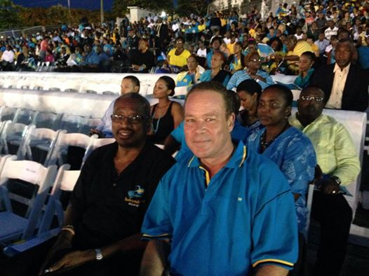 Photo: 41st. Independence celebration, Clifford Park. With Party Leader Hubert Minnis