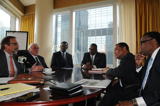 Photo: Productive meeting in New York  held with Bahamian Government officials and investors about the BAMSI project
