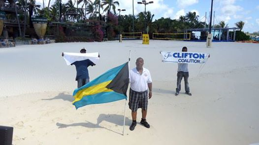 Photo: CB MOSS reclaims Bahamian crown land @Nygard Cay.